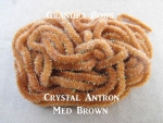 Crystal Antron Chenille Med Brown