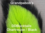 Double Dipped Bucktails Chartreuse Black