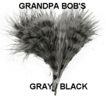 Prison Stripes Marabou Gray/Black