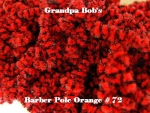 Chenille - Barber Pole Orange  #72 - 72 Yard Skein