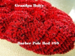Chenille - Barber Pole Red #88 - 72 Yard Skein