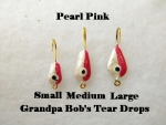 Teardrop Ice jig - Pearl and Pink