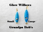 Glow Willow Ice Jig - Blue