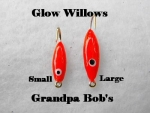 Glow Willow Ice Jig - Red