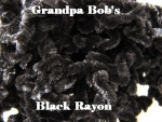 Rayon Chenille - Black - 3 Yard Package