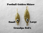 Football Ice Jig - Golden Shiner