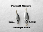 Football Ice Jig - Minnow