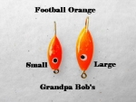 Football Ice Jig - Orange