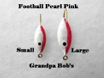 Football Ice Jig - Pearl and Pink