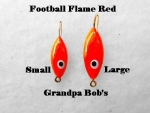 Football Ice Jig - Flame Red