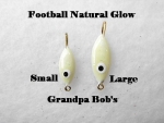 Football Ice Jig - Natural Glow