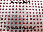 3D Molded Eyes - Red - 100 Count Package