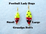 Football Ice Jig - Lady Bugs