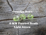 Faceted Beads - 6mm - Light Green - 100 Count