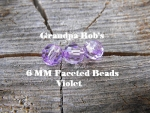 Faceted Beads - 6mm - Violet - 100 Count