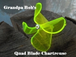 Plastic Buzz Bait Blade - Yellow Chartreuse - 5 Pieces