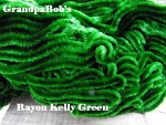 Rayon Chenille - Kelly Green - 72 Yard Skein