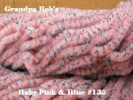 Chenille - Baby Pink &  Blue #135  - 3 Yard Package