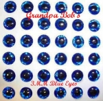 3D Molded Eyes - Blue - 100 Count Package