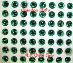 3D Molded Eyes - Green - 100 Count Package