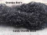 Candy Chenille - Black #CO1 -  3 Yard Package