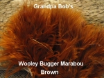 Wooly Bugger Marabou - Brown
