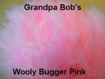 Wooly Bugger Marabou  - Pink