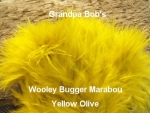 Wooly Bugger Marabou -  Yellow Olive