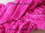 Chenille #163 Rasberry Shine 3 Yard Pkg