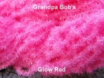 Glow Chenille - Glow Red #G36 - 3 Yard Package