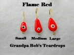 Teardrop Ice jig - Flame Red