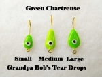 Teardrop Ice jig - Green Chartreuse