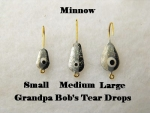 Teardrop Ice jig - Minnow