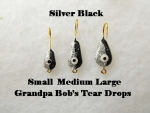 Teardrop Ice jig - Silver and Black