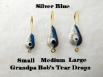 Teardrop Ice jig - Silver and Blue
