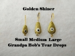 Teardrop Ice jig - Golden Shiner