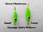 Willow Leaf Ice jig - Green Chartreuse