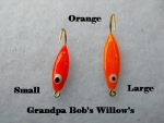 Willow Leaf Ice jig - Orange