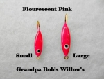 Willow Leaf Ice jig - Pink