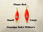 Willow Leaf Ice jig - Flame Red