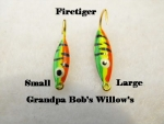 Willow Leaf Ice jig - Firetiger