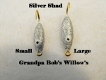 Willow Leaf Ice jig - Silver Shad