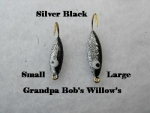 Willow Leaf Ice jig - Silver and Black