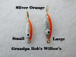 Willow Leaf Ice jig - Silver and Orange