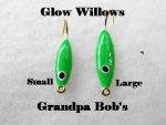 Glow Willow Ice Jig - Green