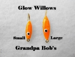 Glow Willow Ice Jig - Orange