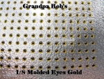 3D Molded Eyes - Gold - 100 Count Package