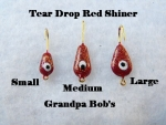 Teardrop Ice jig - Red Shiner
