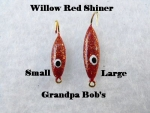 Willow Leaf Ice jig - Red Shiner
