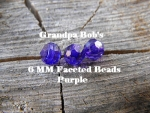 Faceted Beads - 6mm - Purple - 100 Count